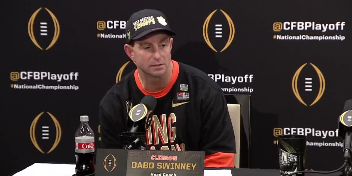 VIDEO: Dabo Swinney speaks after CFP National Championship win