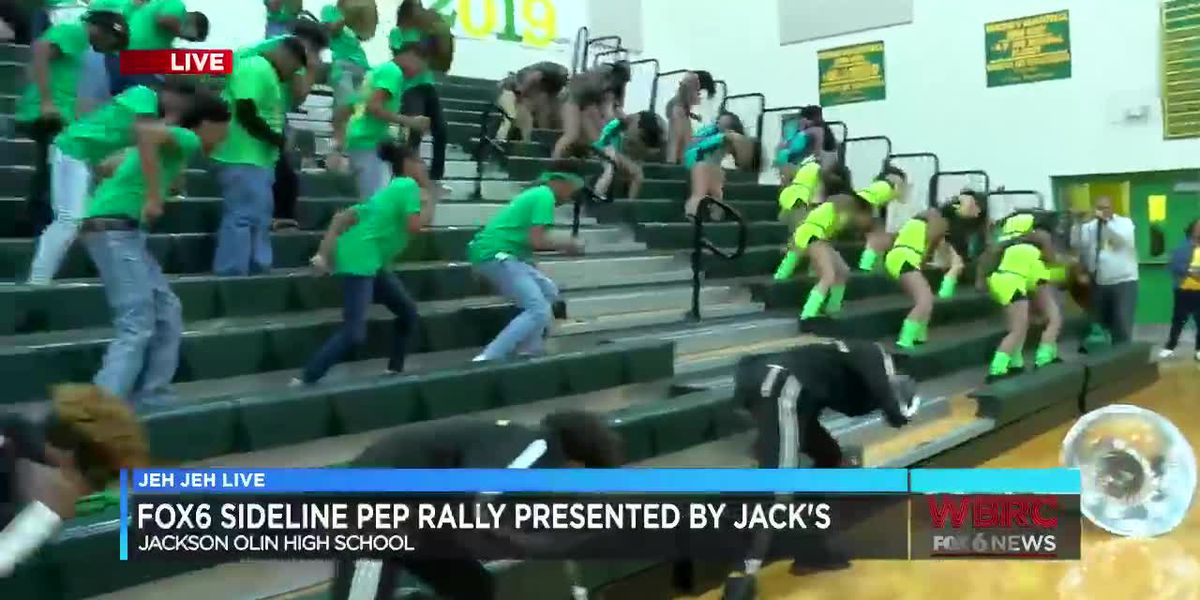 Jeh Jeh Live WBRC FOX6 News Sideline Pep Rally: Jackson-Olin High School (Part 3)