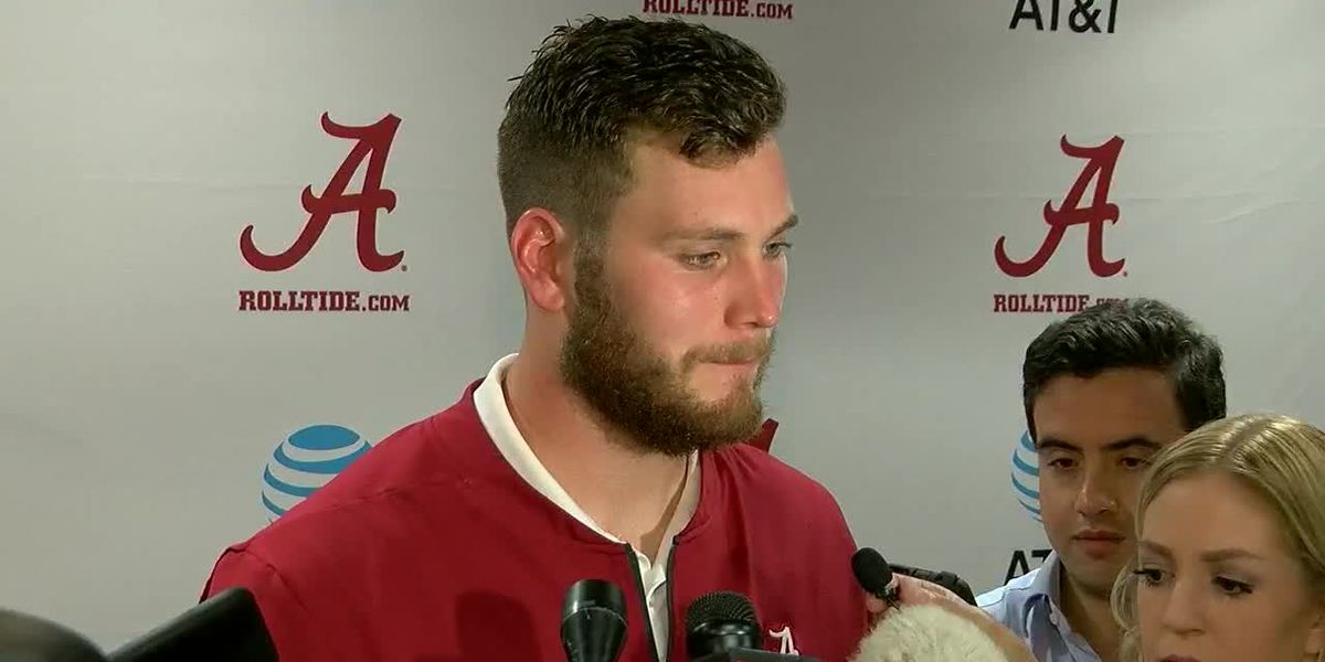 Hale Hentges talks after the Texas A&M win