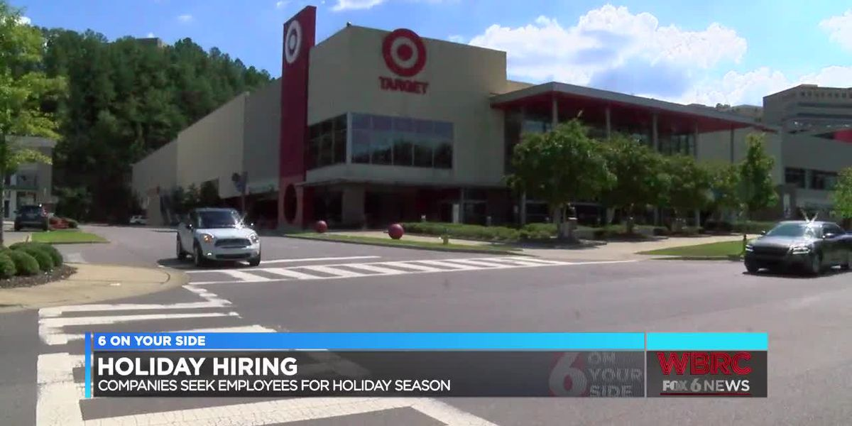 Companies hiring for the holidays