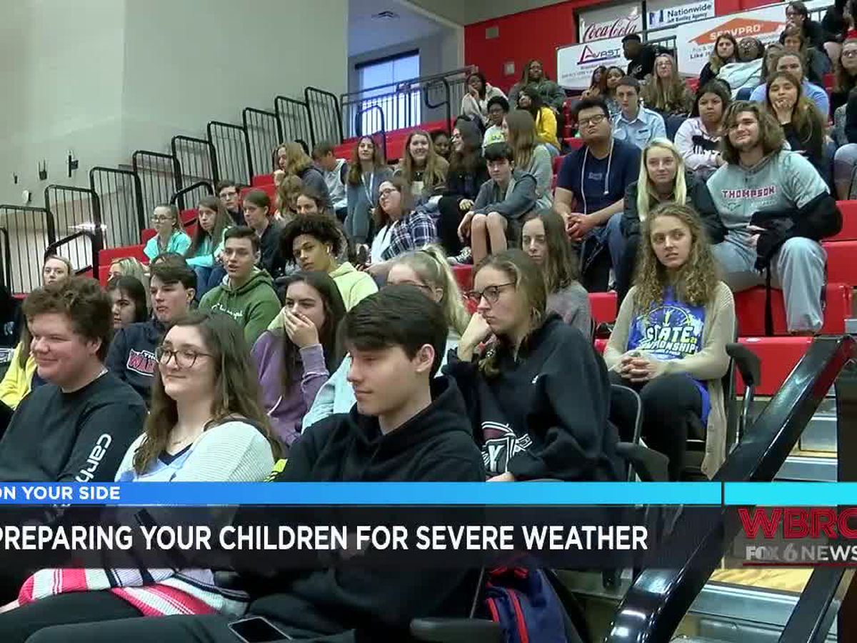 Student leads severe weather prep at local high school