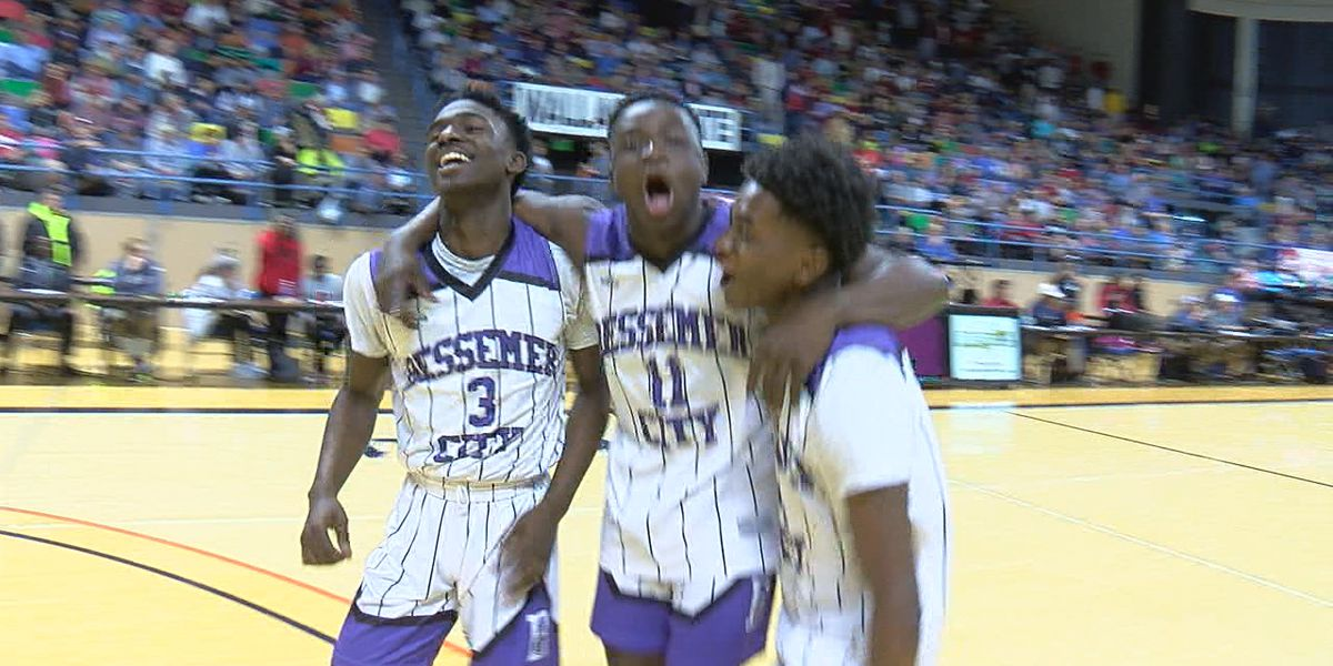 Last second shot lifts Bessemer City over Hartselle 41-40 for the Purple Tigers' first trip to Final Four since 2014