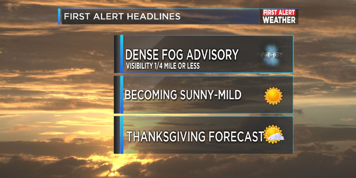FIRST ALERT: Patchy, dense fog Monday morning