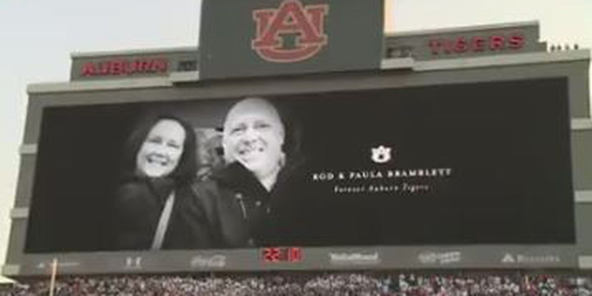 Tribute honors former Voice of the Auburn Tigers before kickoff at home game