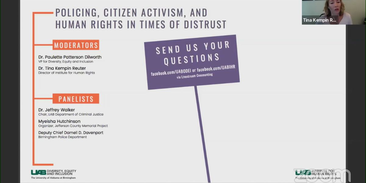 """UAB hosts discussion on """"Policing, Citizen Activism and Human Rights"""""""