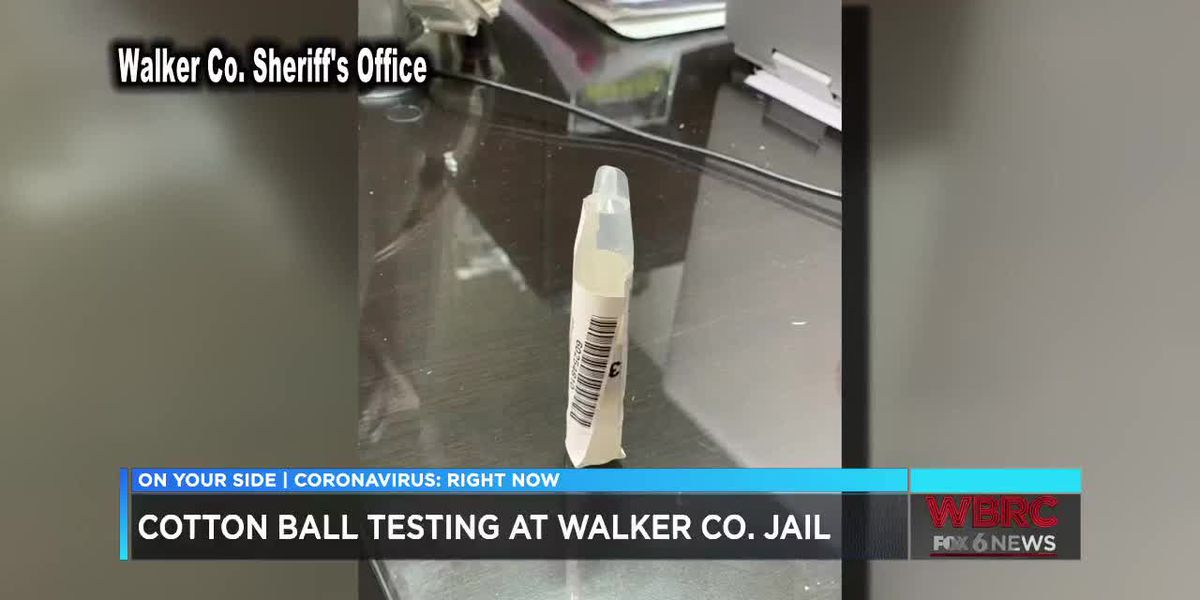 Cotton ball COVID testing at Walker Co. Jail