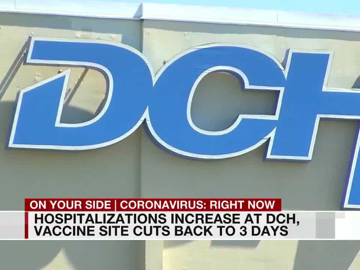 Changes coming to DCH vaccination site in Tuscaloosa