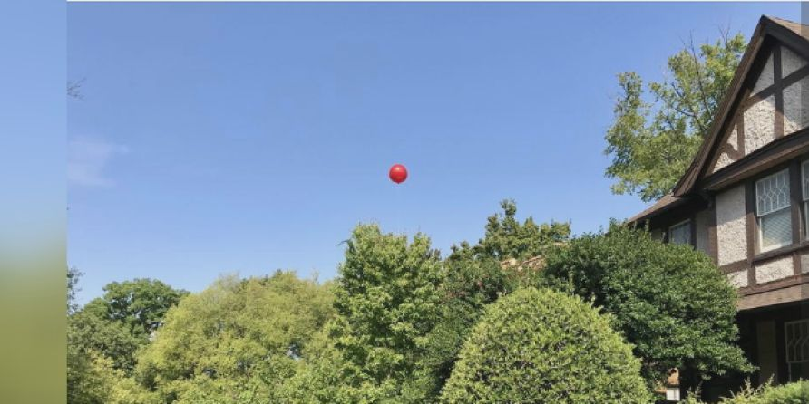 A red balloon to symbolize potential in Redmont