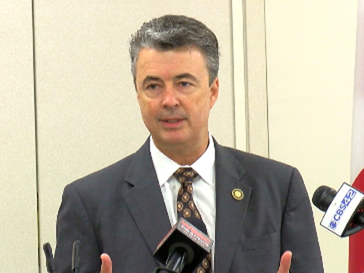 Alabama Attorney General Steve Marshall speaks on recent violence