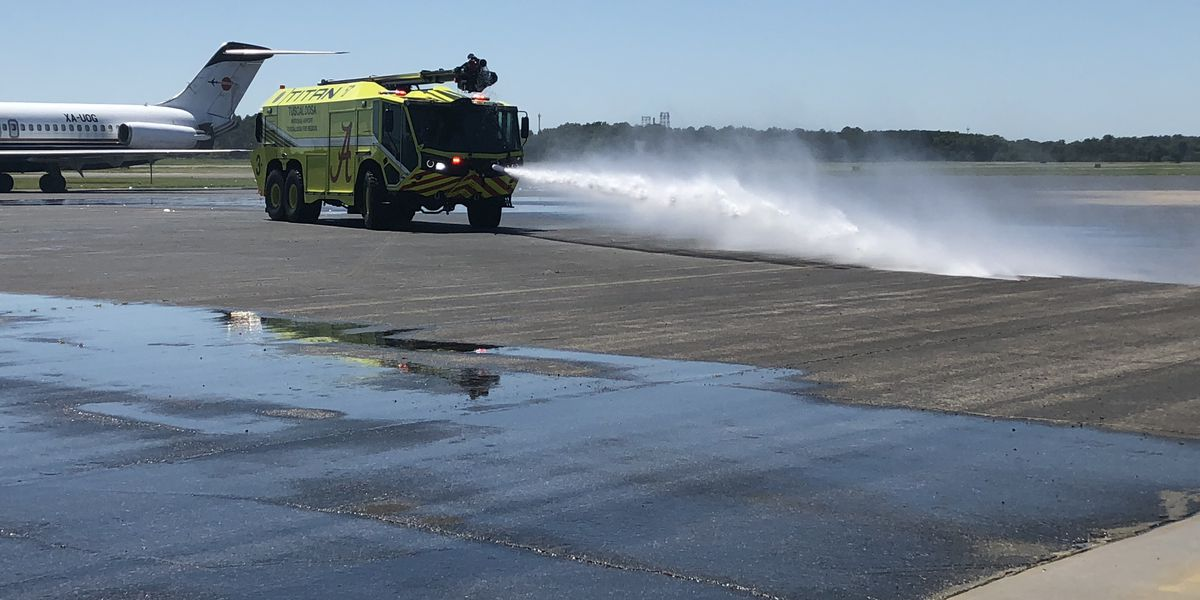 Tuscaloosa Fire Rescue using a newer, better truck at Tuscaloosa National Airport