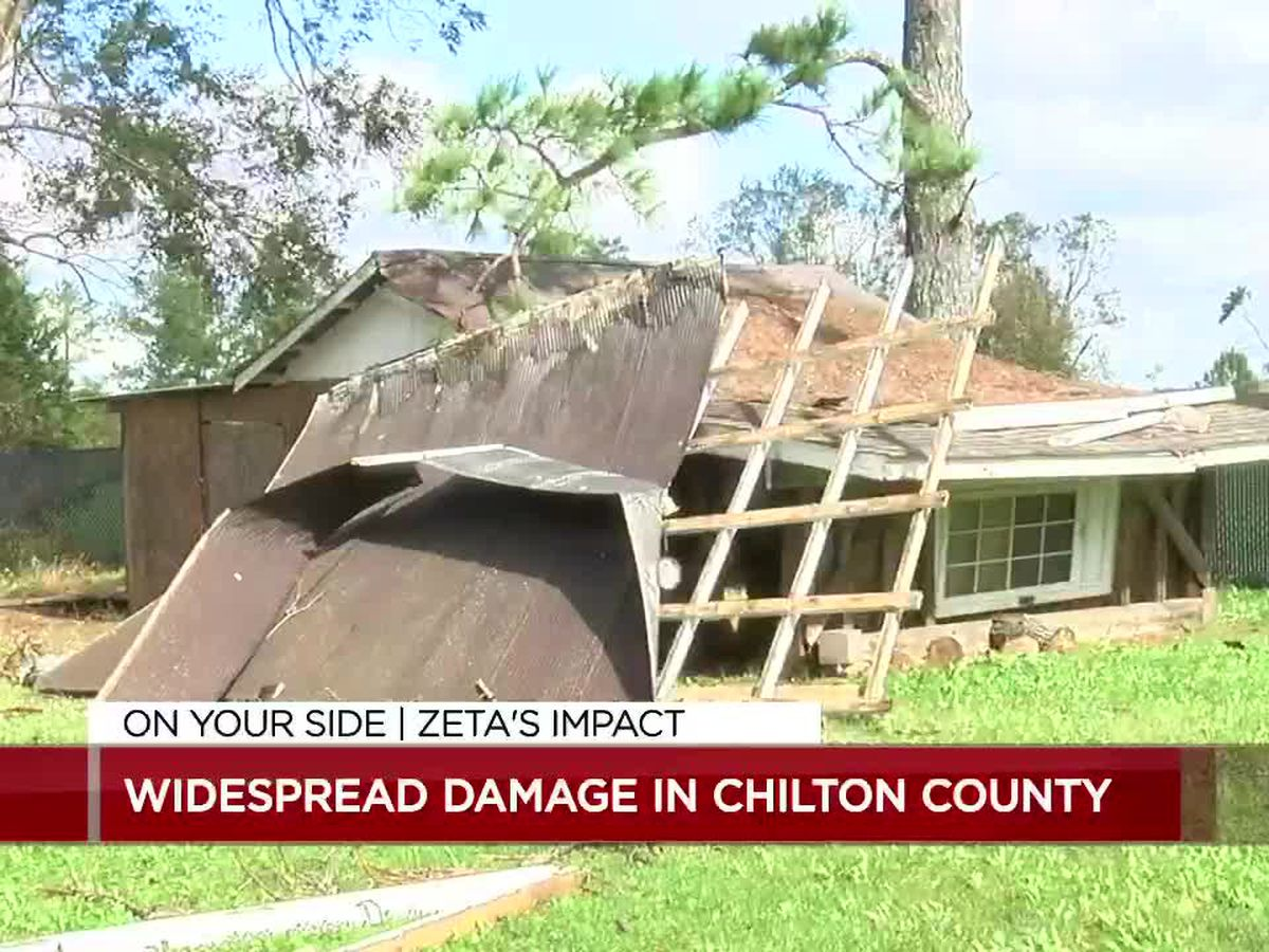Chilton County homeowners dealing with storm damage from Zeta