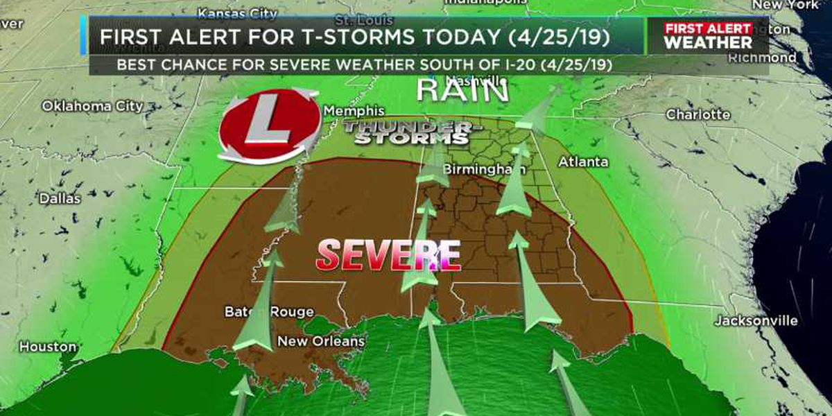 FIRST ALERT: Storms, showers likely today