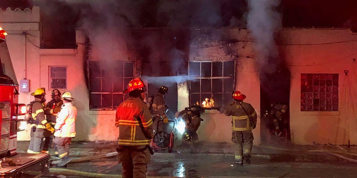 Crews battle structure fire in Birmingham