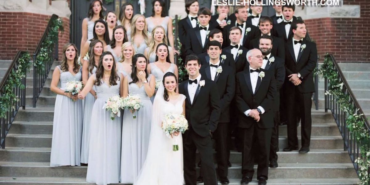 PHOTO: Bridal party reacts as Birmingham photographer is almost hit by car