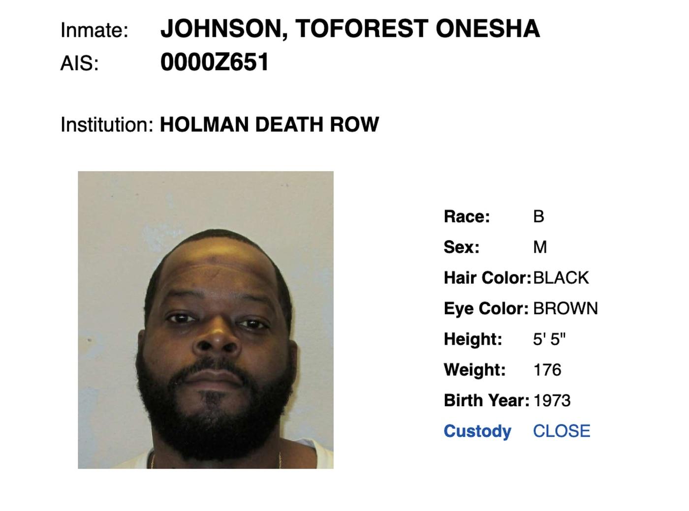 Man on Alabama's death row for murder of deputy says he's