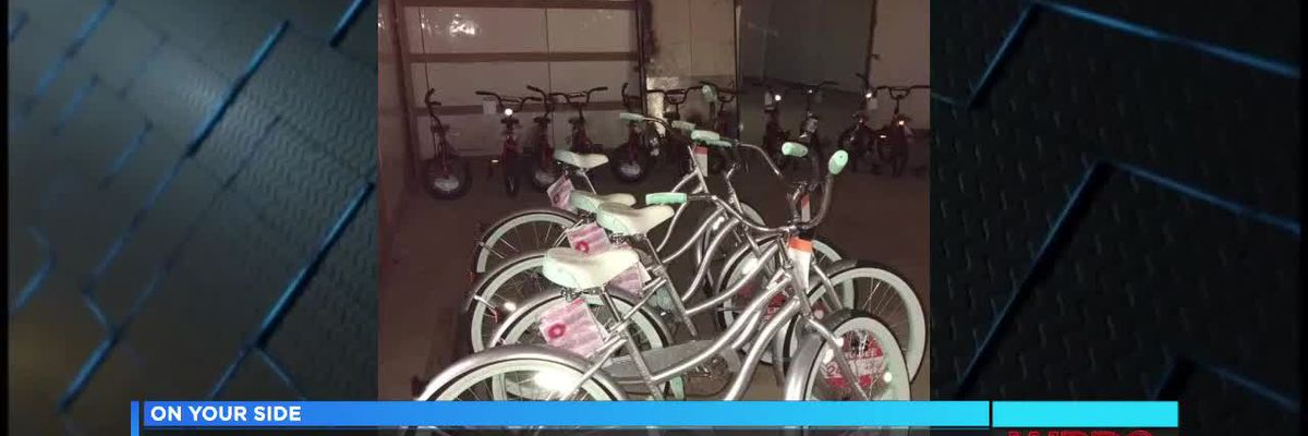 Bicycle giveaway in East Alabama