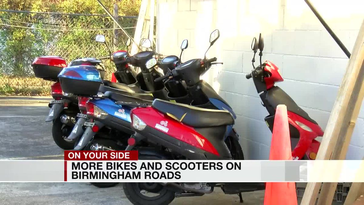 More bikes and scooters on Birmingham roads