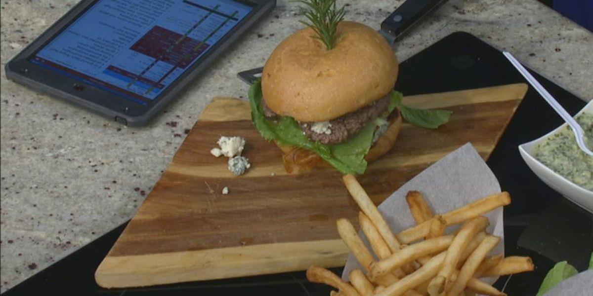 Big Black and Blue Mushroom Burger