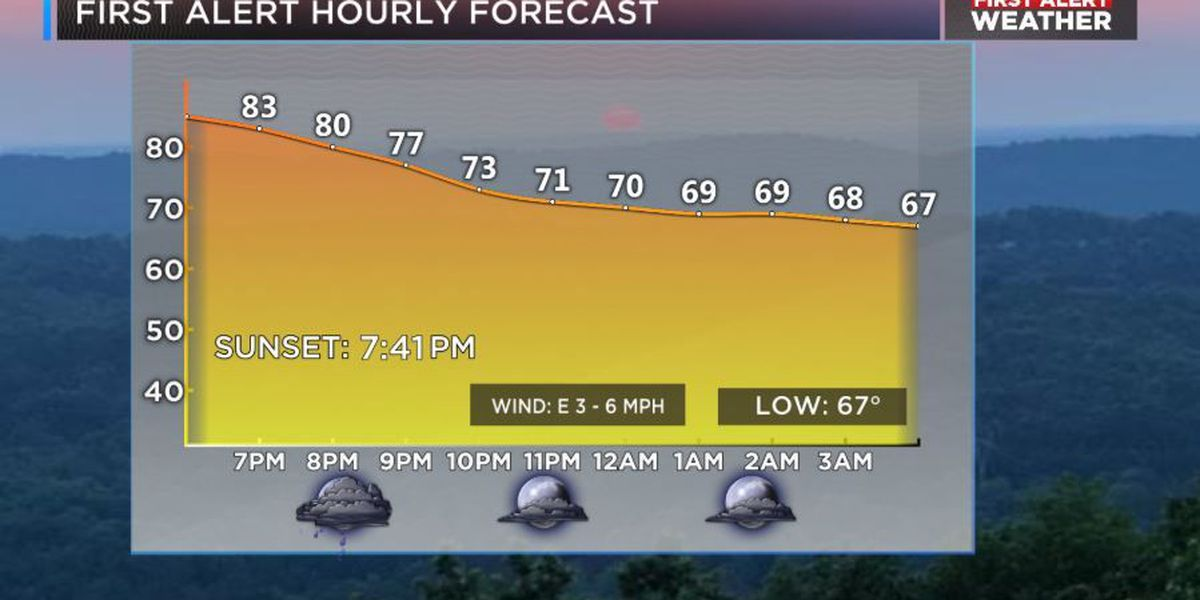 FIRST ALERT: Scattered showers, thunderstorms return to the area; feeling more humid