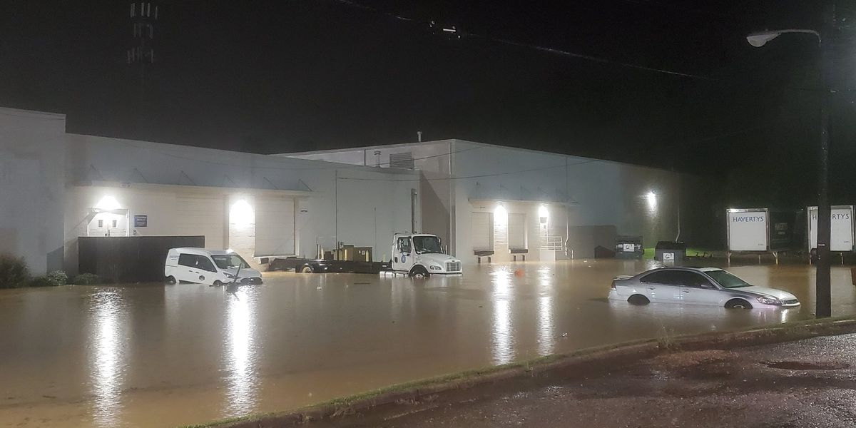 West Alabama flooding on McFarland Blvd