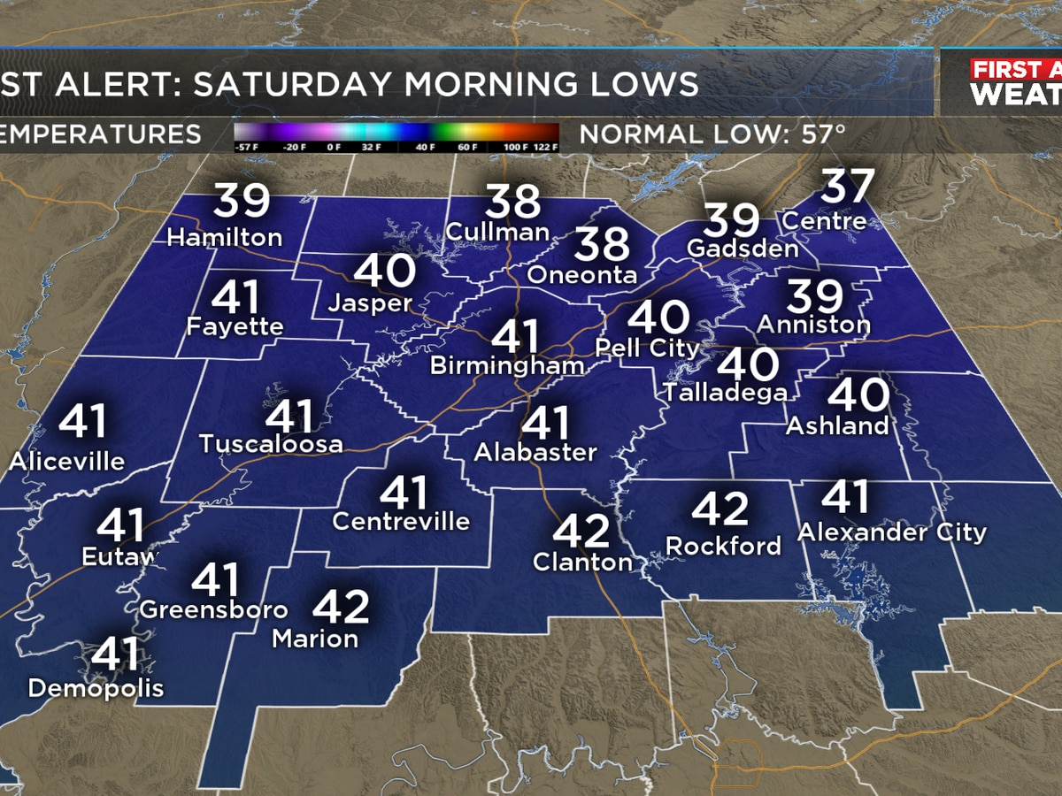 FIRST ALERT: Patchy frost expected tonight