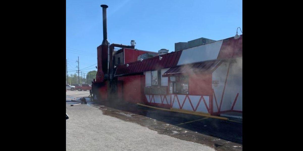 Fire investigation at Costa's BBQ