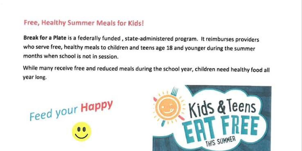 Tuscaloosa community center offers free summer meals for kids