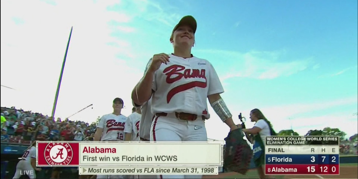 Alabama takes down Florida to advance in the Women's College World Series
