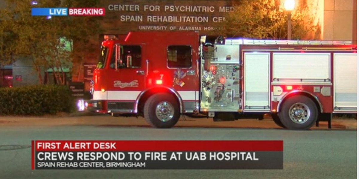 Small fire out at UAB's Spain Rehab Center