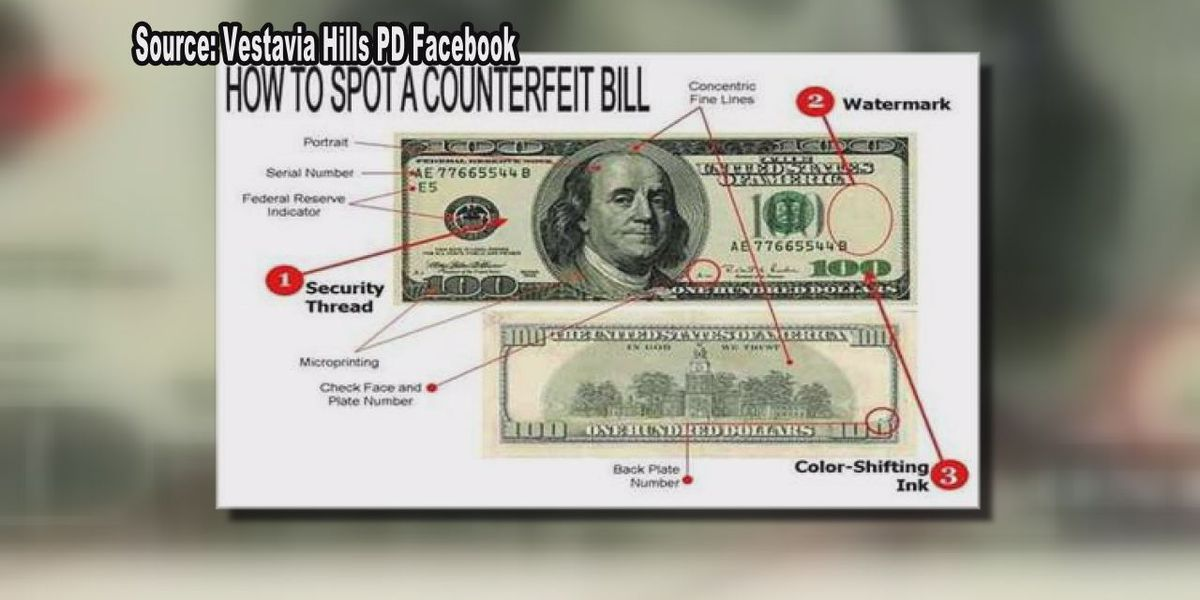 Vestavia Hills Police explain how to spot and report fake money
