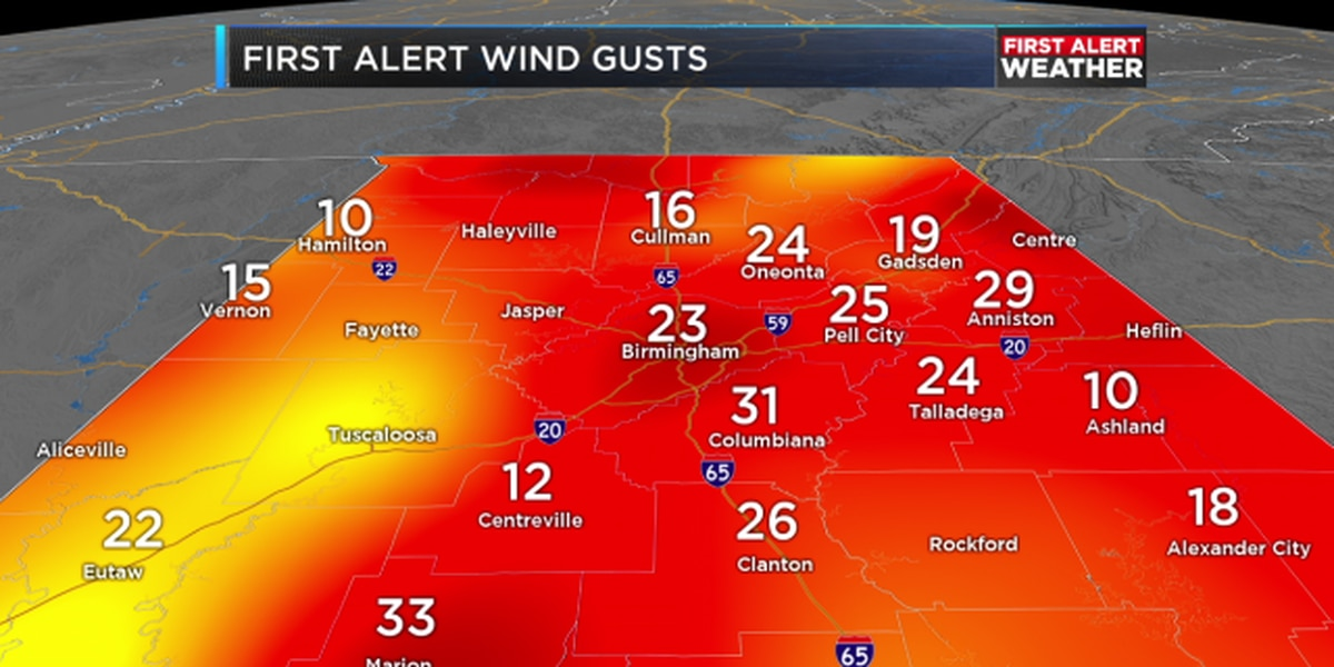 FIRST ALERT: Wind Advisory in effect for Northeast Alabama