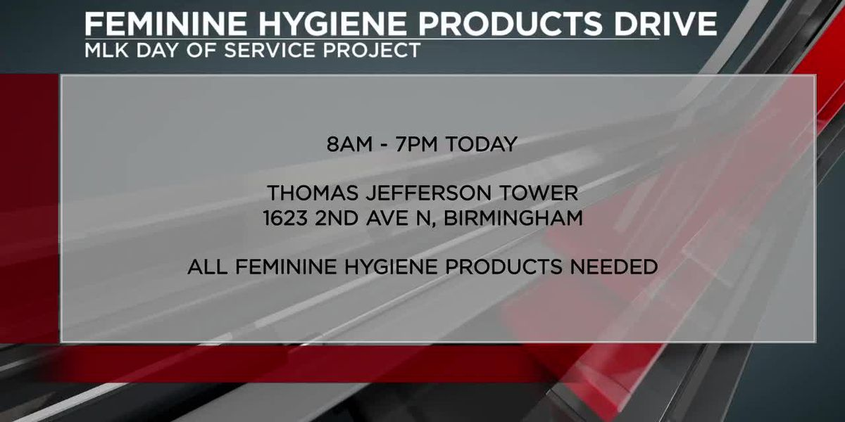 MLK Day of Service: Feminine hygiene products drive
