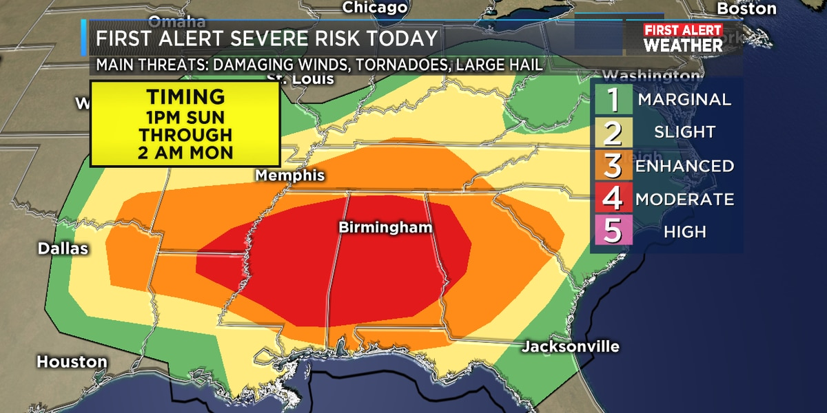 First Alert Weather Day: An increasing tornado threat across our area, tornado watch will be likely