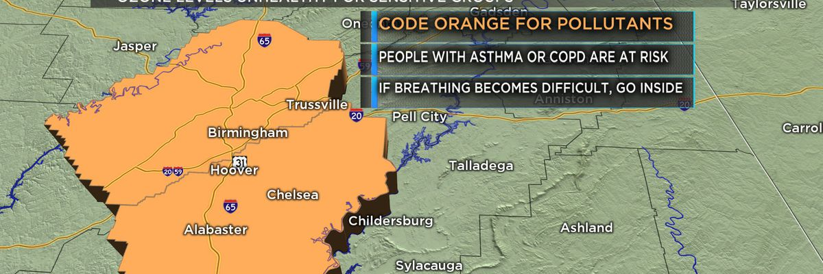 First Alert: Code Orange Air Quality Alert Monday; hot next week but some relief after Wednesday