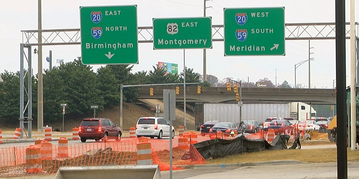 Expect major lane closures in Tuscaloosa this weekend