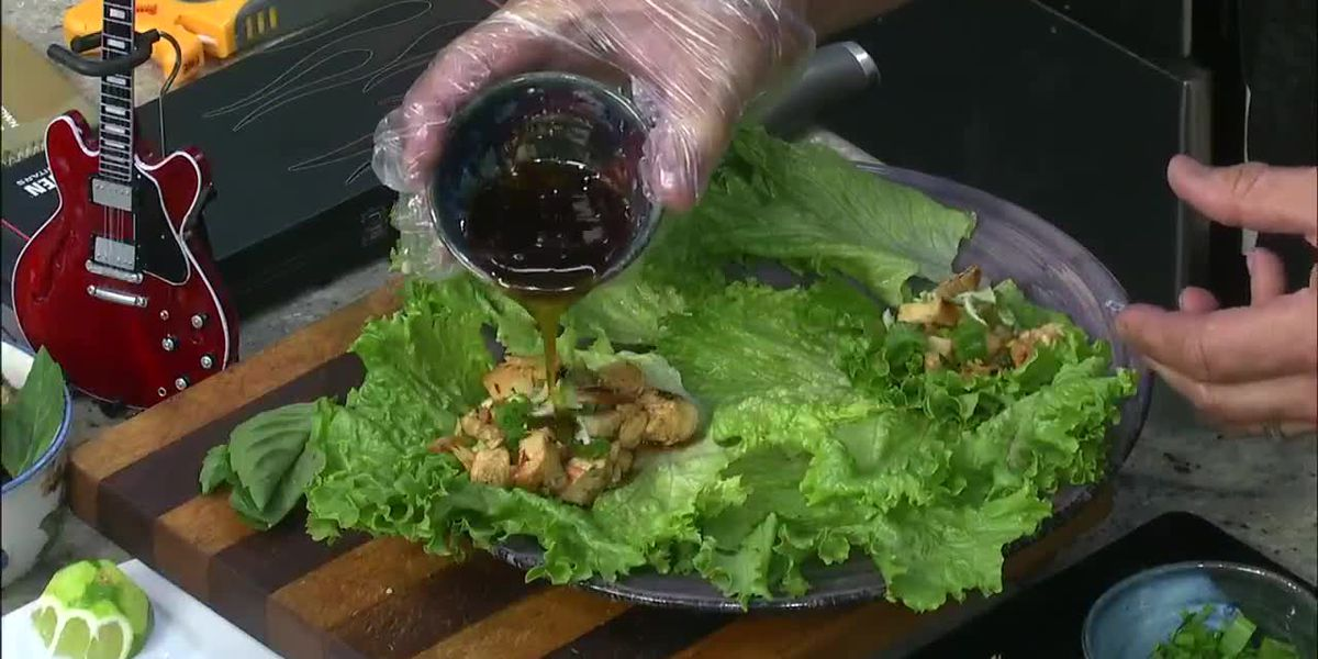 AATC: Spicy chicken lettuce wraps
