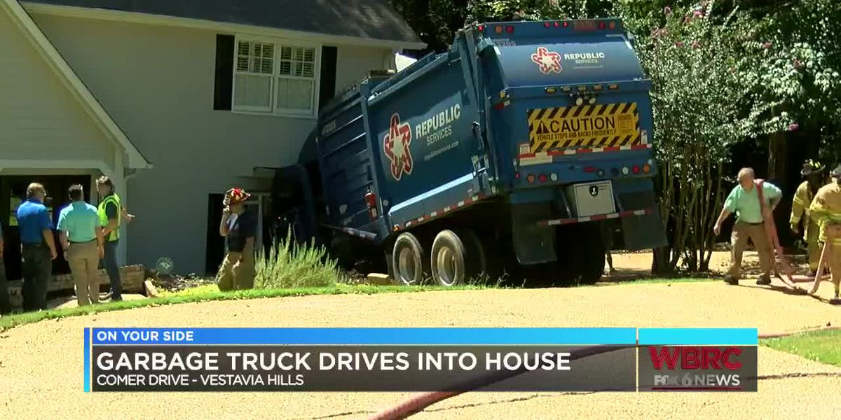 Garbage truck drives into home in Vestavia Hills