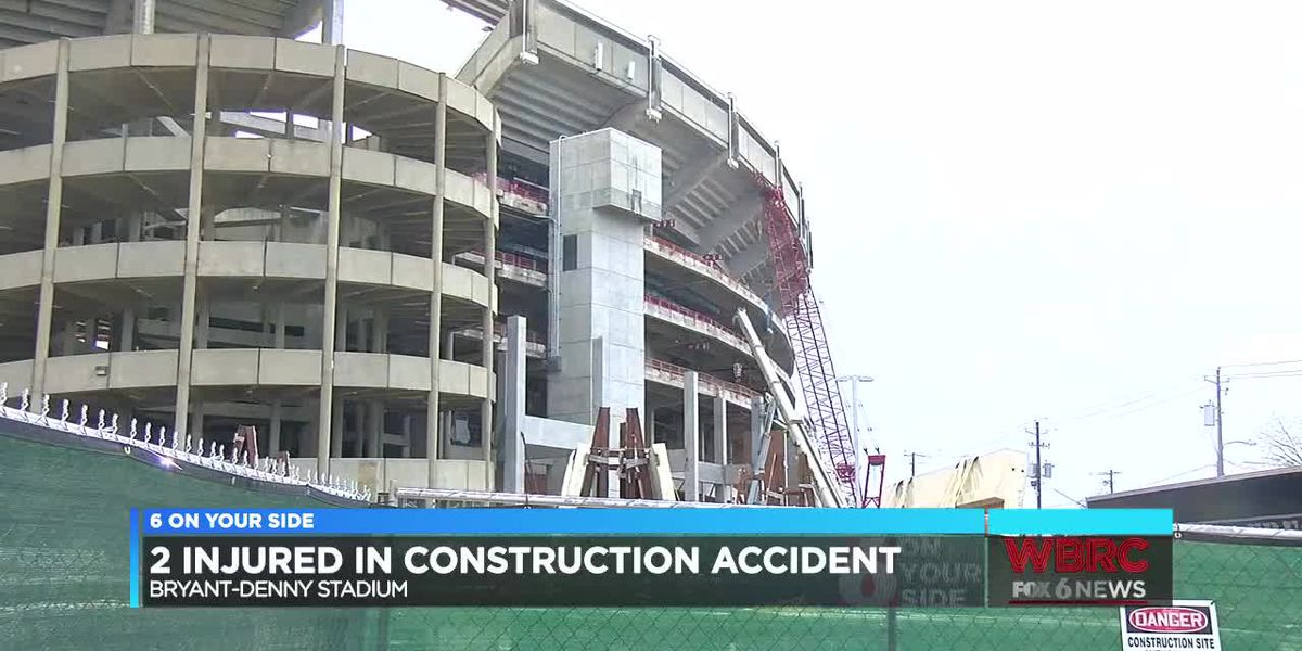 2 injured in construction accident at Bryant-Denny Stadium