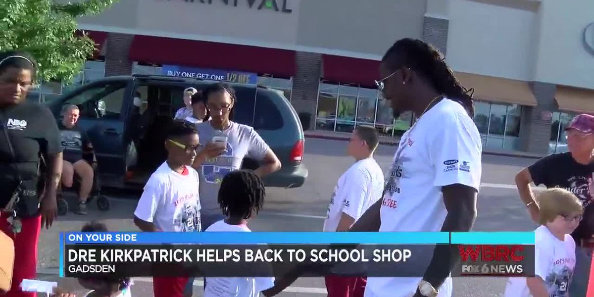 Dre Kirkpatrick helps kids back to school shop