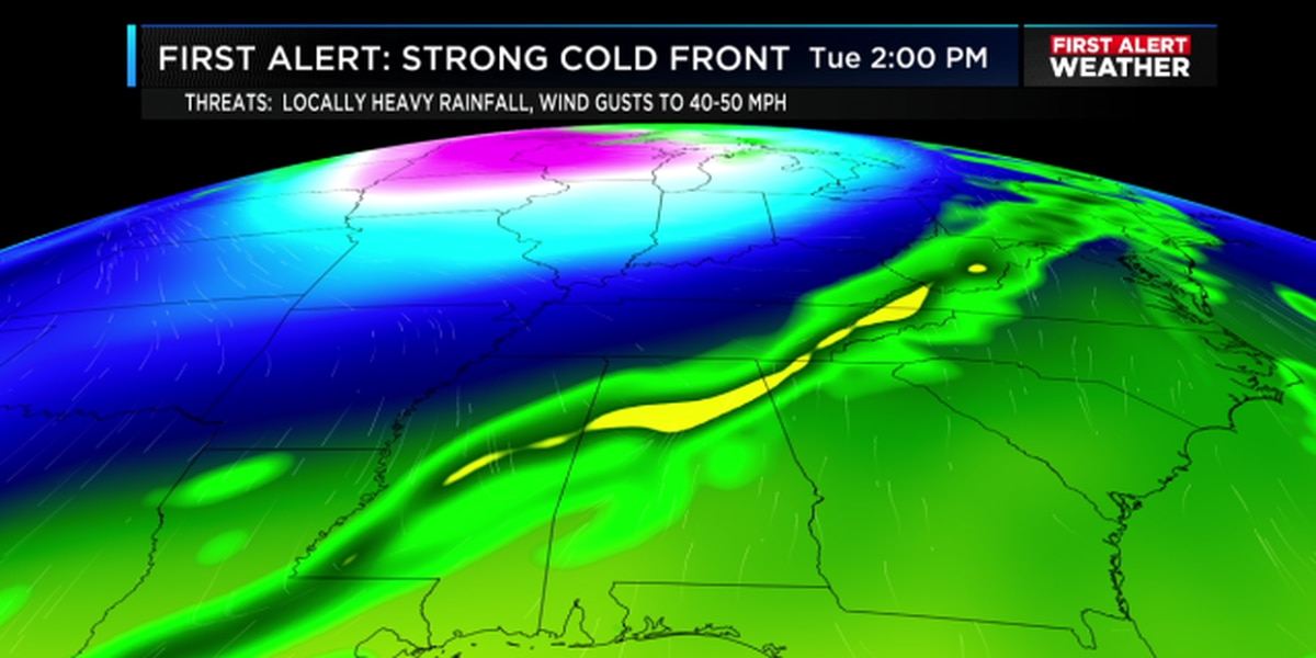 FIRST ALERT: A strong system to move through tomorrow