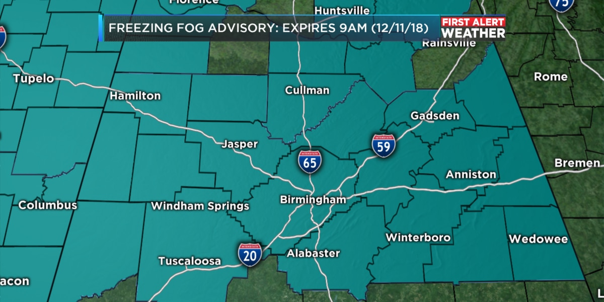 FIRST ALERT: Freezing fog and black ice a major concern this Tuesday morning