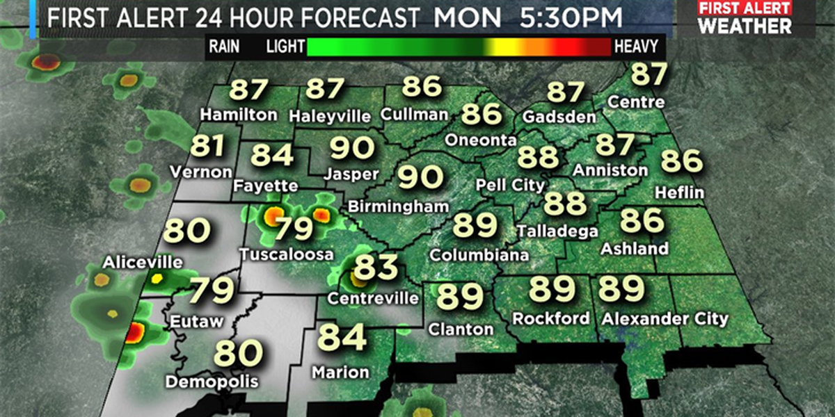 Mickey: Hot, humid weather with a chance of isolated storms for west Alabama