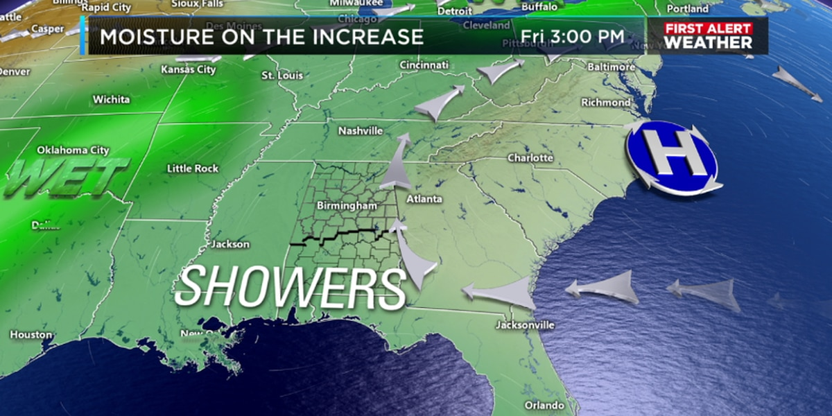 Matt has an update on our rain chances this weekend