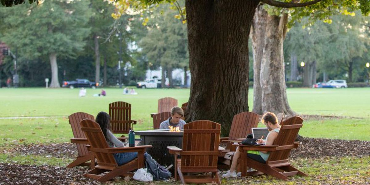 UA places new social distancing chairs around campus