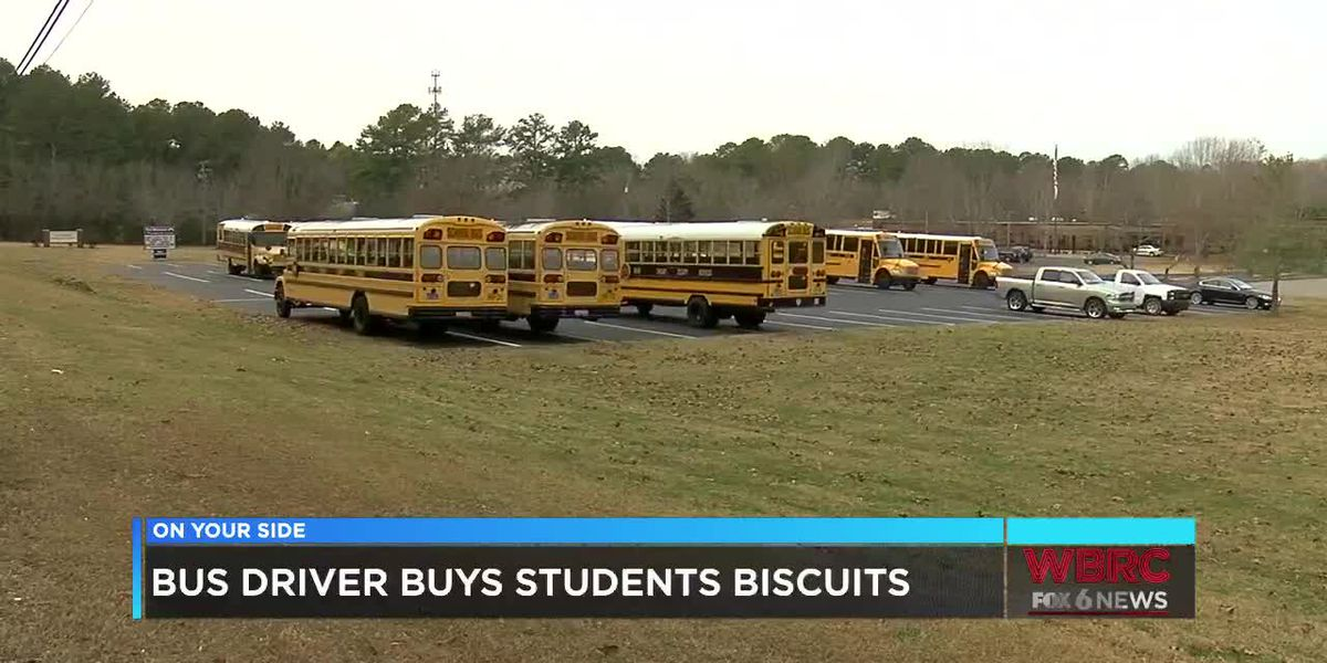 Bus driver buys biscuits for students