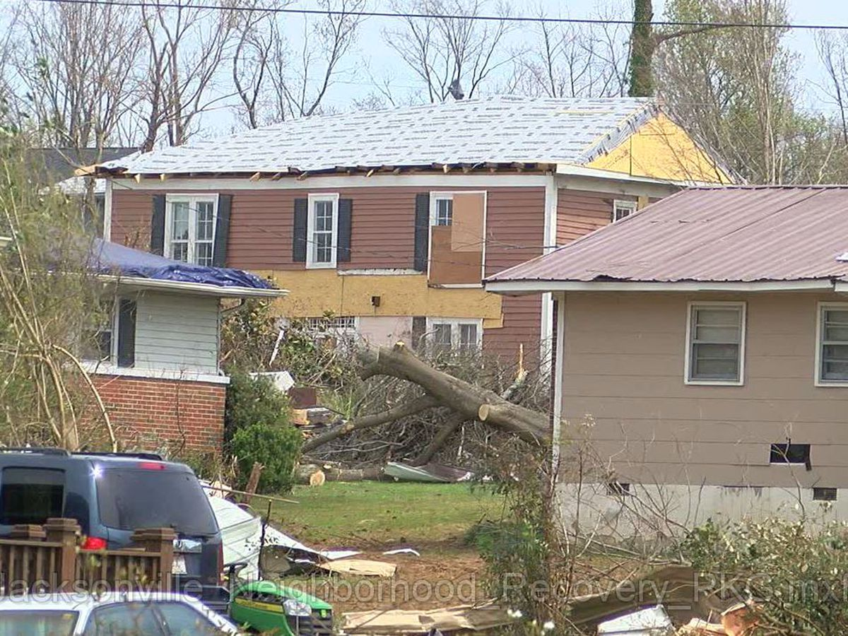 Recovery continues in Jacksonville neighborhood after tornado