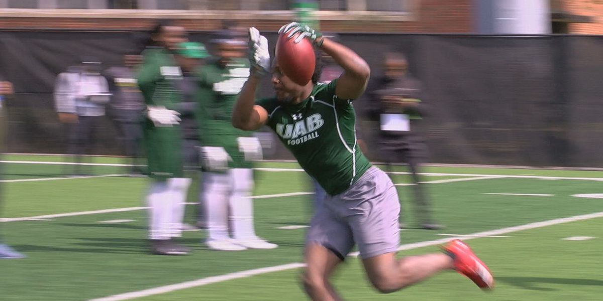 UAB football holds pro day