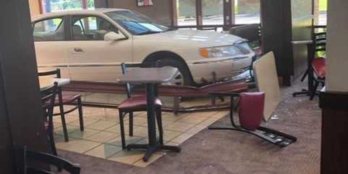 Car crashes into Jasper Arby's