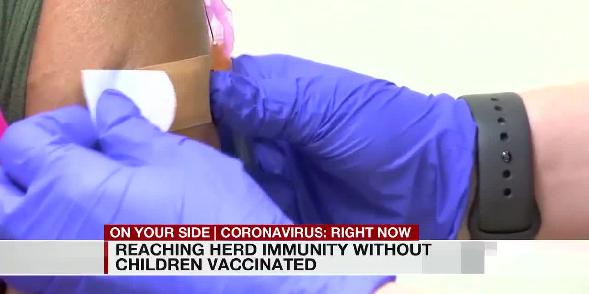 Reaching herd immunity without children vaccinated