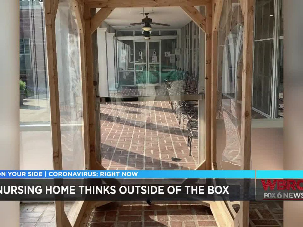 Local nursing home gets creative as residents start to see visitors